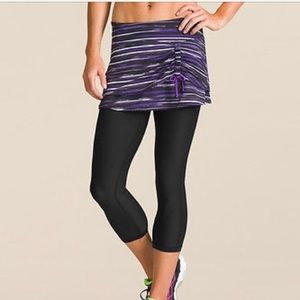ATHLETA Painted Cuteness 2 In 1 Capri Skort